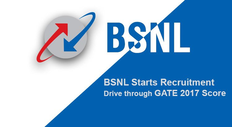 BSNL Starts Recruitment Drive through GATE 2017 Score