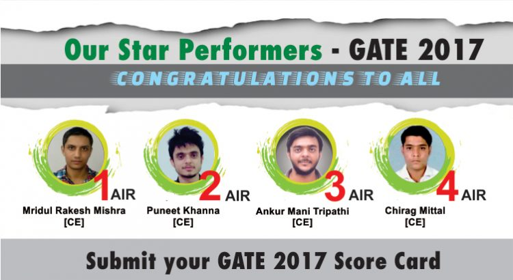 GATE 2017 Toppers from IES Master