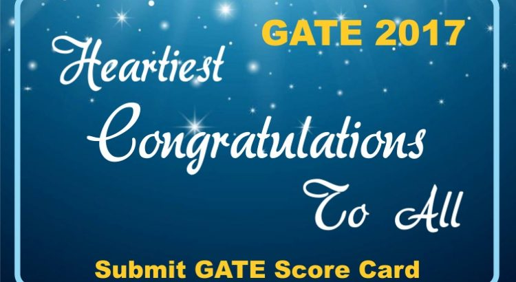GATE Result 2017 - Congratulations to all