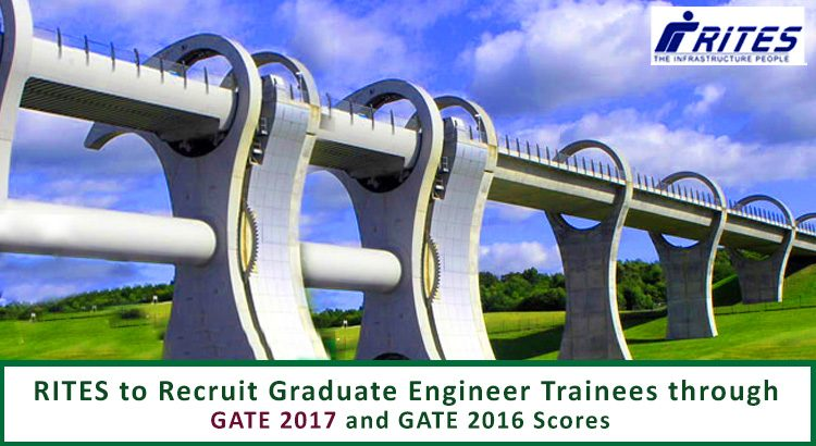 RITES to Recruit Graduate Engineer Trainees Through Gate 2017