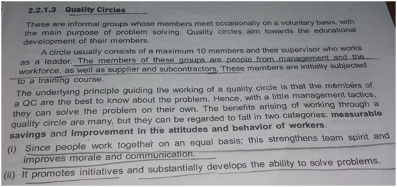 Quality Circle is a method to bring Organizational Improvement through indulging the workers.
