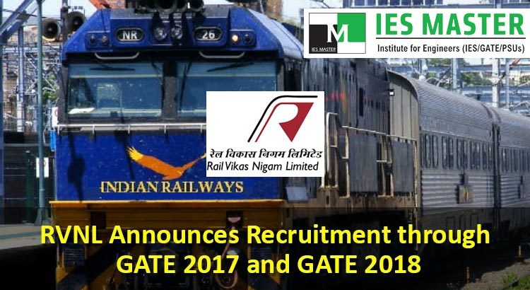 RVNL Announces Recruitment through GATE 2017 and GATE 2018
