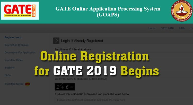GATE-2019-Registration-through-GOAPS-is-Now-Open