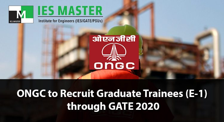 ONGC-to-Recruit-Graduate-Trainees-(E-1)-through-GATE-2020