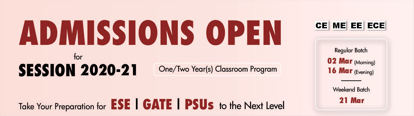 GATE ESE admission open