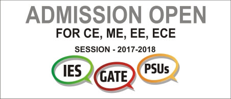 New Admission 2017 for GATE, ESE