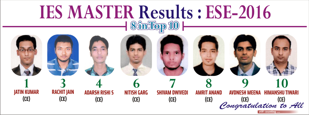 ESE 2016 CE Result - Top 10 by IES Master