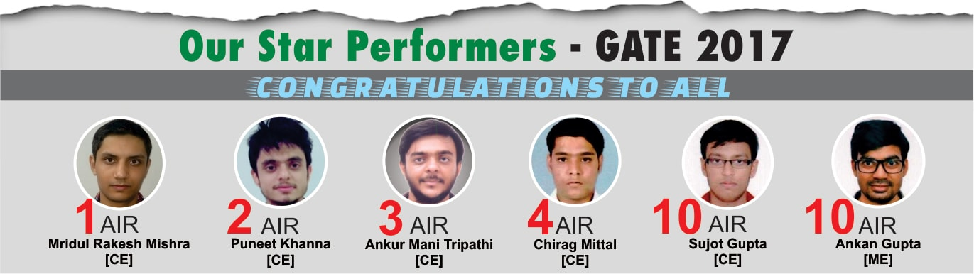 GATE 2017 Result under AIR 10 - IES Master Toppers