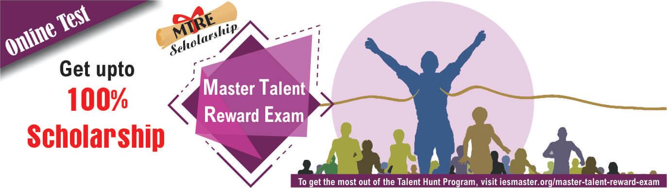 Master Talent Reward Exam - Scholarship exam IES Master