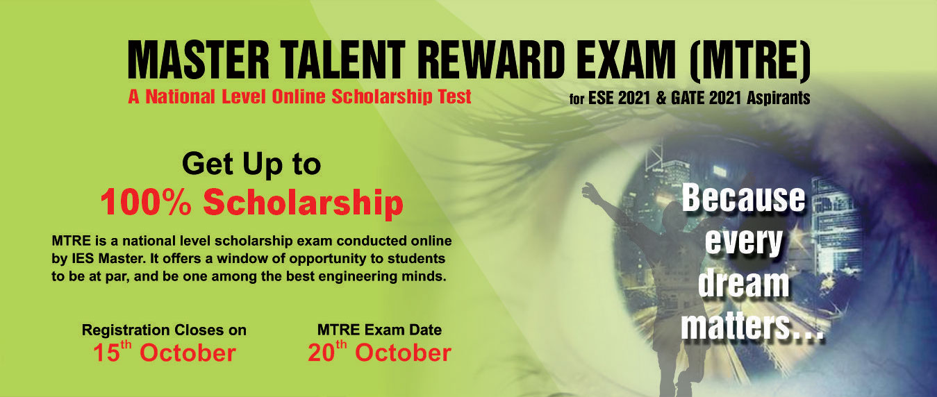 Online Scholarship Test for ESE and GATE aspirants - MTRE