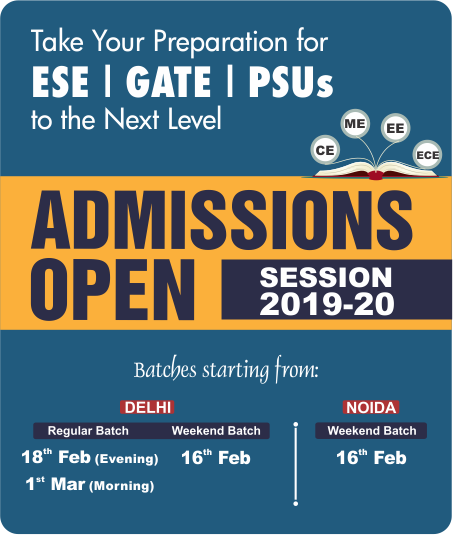 Admission Open, IES Master, Admission Open for Session 2019-20, ESE 2020, GATE 2020
