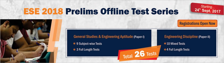 ESE 2018 Prelims offline test series