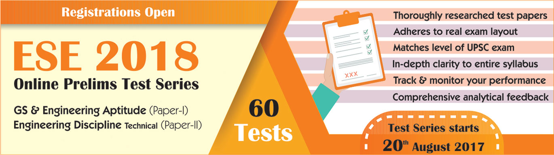 ESE Prelims Online Test Series 2017-18