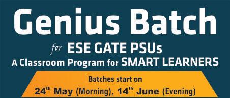 Genius Batch, ESE 2020, GATE 2020