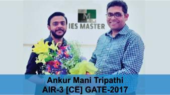 GATE 2017 CE Topper AIR-3