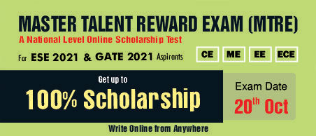 All India Scholarship Test for ESE & GATE 2021 Aspirants