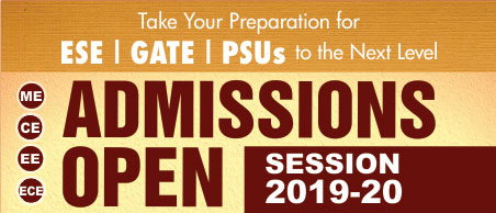 Admission Open, ESE 2020, GATE 2020, New Batches