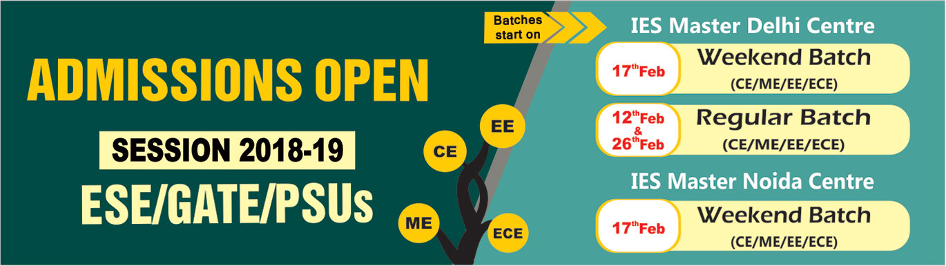 Admission Open 2018-19 IES Master