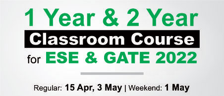 Admission Open for ESE 2022 GATE 2022