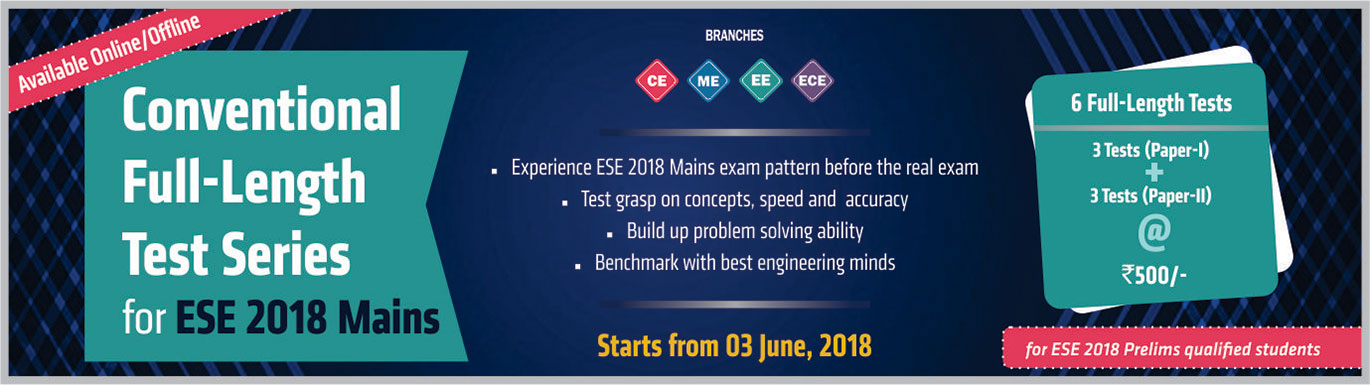 Conventional Testseries 2018, IES Master