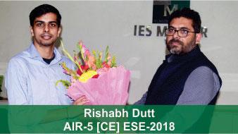 ESE 2018 CE Topper AIR 5 Rishabh Dutt