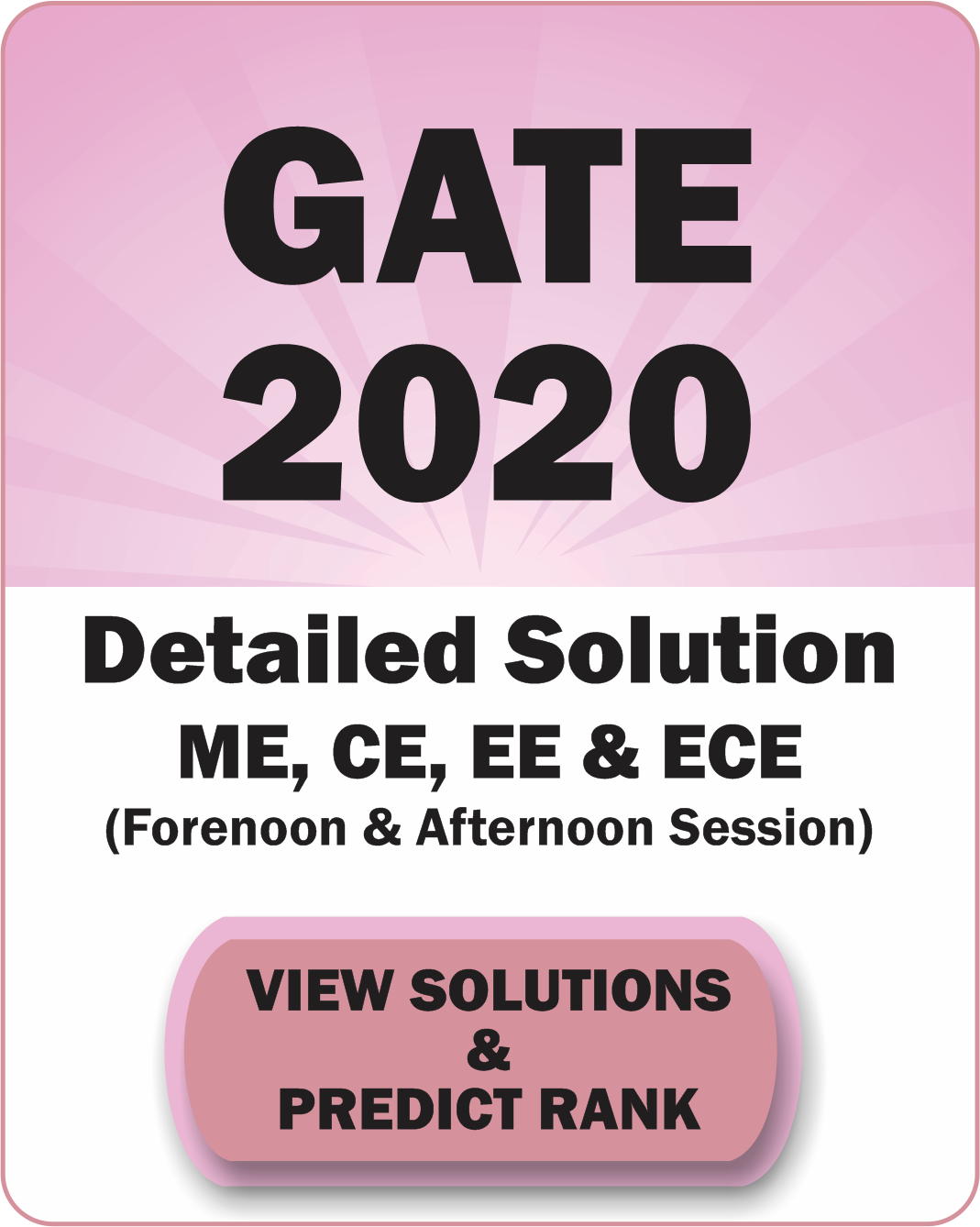 GATE 2020 Detailed solution