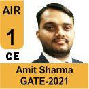 Amit-Sharma-GATE-2021-Topper-AIR1-CE