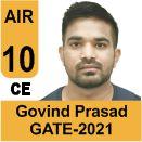 Govind-Prased-Bairwa-GATE-2021-Topper-AIR10-CE