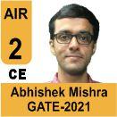 Abhishek-Mishra-GATE-2021-Topper-AIR2-CE