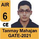 Tanmay-Mahajan-GATE-2021-Topper-AIR6-CE