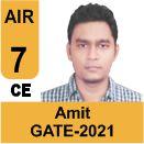 Amit-GATE-2021-Topper-AIR7-CE