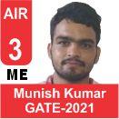 Munish-Kumar-GATE-2021-Topper-AIR3-ME