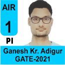Ganesh-Kumar-Adigur-GATE-2021-Topper-AIR1-PI