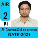 Sh-Gowtham-Gudimellaryaman-GATE-2021-Topper-AIR2-PI