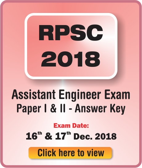 RPSC AE PRELIMS EXAM SOLUTION ANSWER KEY