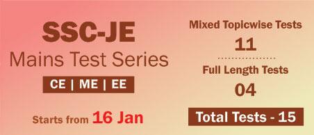 SSC-JE Mains Test Series