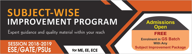 Subject-wise Program  IES Master