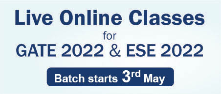 Live Online Classes for ESE 2022 & GATE 2022