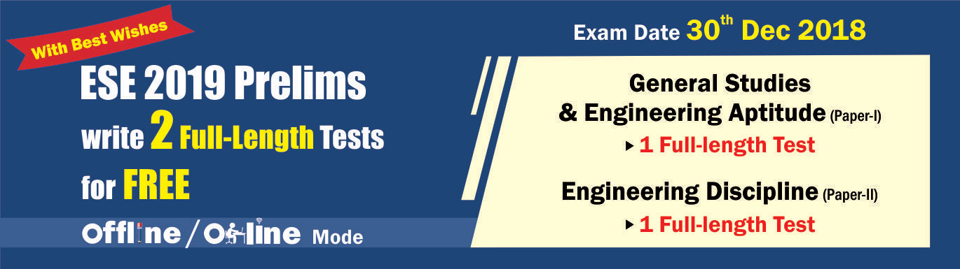 ESE 2019 Prelims Free Full Length Tests