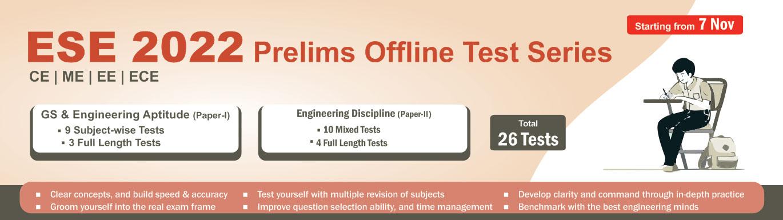 ESE Prelims Offline Test