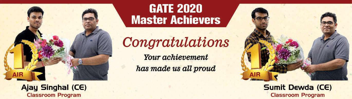 GATE 2020 TOPPERS IES MASTER