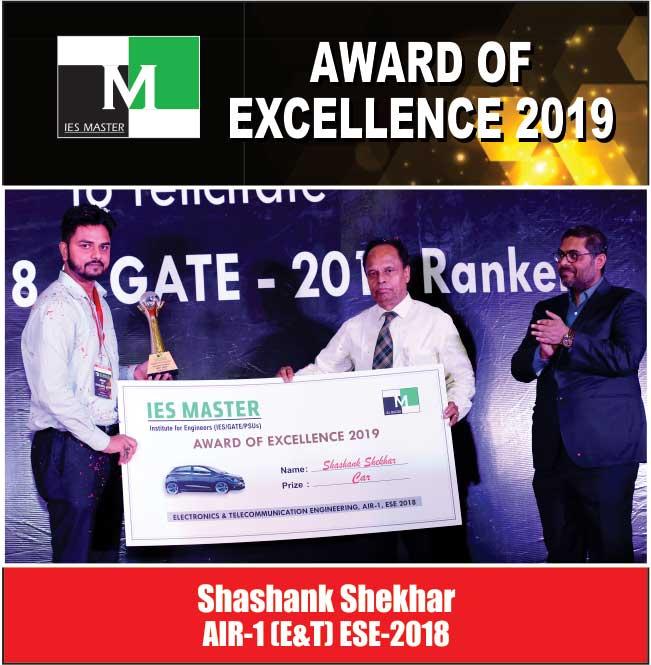 Shashank Shekhar AIR-1 (E&T) ESE-2018