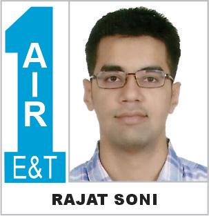 Rajat Soni (ECE) AIR-1 ESE 2019