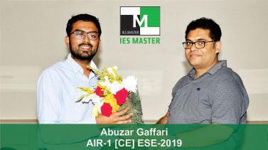 ESE 2019 CE Topper AIR 1 Abuzar Gaffari