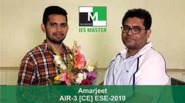 ESE 2019 CE Topper AIR 3 Amarjeet