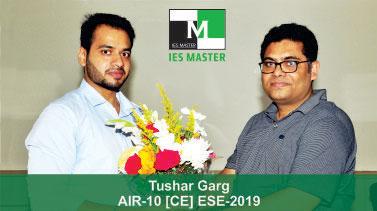 ESE 2019 CE Topper AIR 10 Tushar Garg