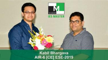 ESE 2019 CE Topper AIR 6 Kabil Bhargav