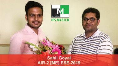 ESE 2019 ME Topper AIR 2 Sahil Goyal