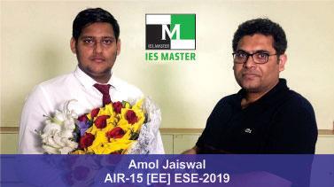 ESE 2019 EE Topper AIR 15 Amol Jaiswal