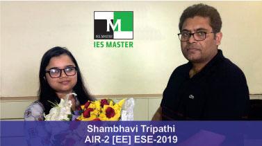 ESE 2019 EE Topper AIR 2 Shambhavi Tripathi
